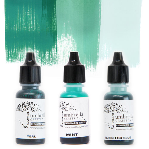Umbrella Crafts - Premium Dye Reinker Kit - Teal Trio
