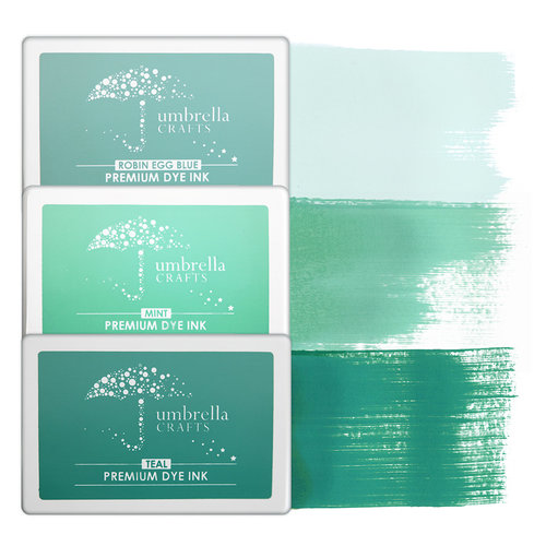 Umbrella Crafts - Premium Dye Ink Pad Kit - Teal Trio