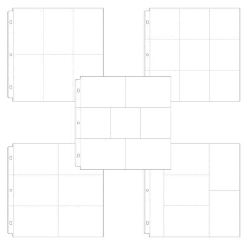 Scrapbook.com - Universal 12 x 12 Pocket Page Protectors - 50 pack - Variety Pack