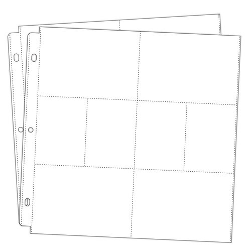 Scrapbook.com - Universal 12 x 12 Pocket Page Protectors - 8 pockets - Style 4 - 20 Pack