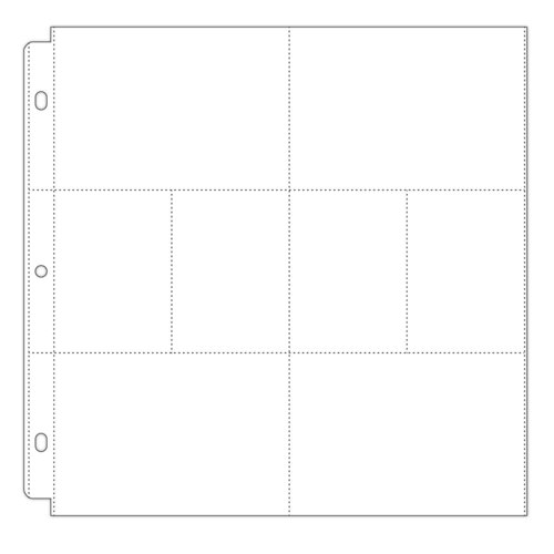 Scrapbook.com - Universal 12x12 Pocket Page Protectors - 8 pockets - Style 4 - 10 Pack