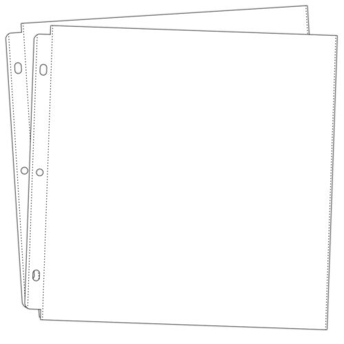 Scrapbook.com - Universal 12x12 Page Protectors for 3-ring Albums - 20 - Two 10 Packs