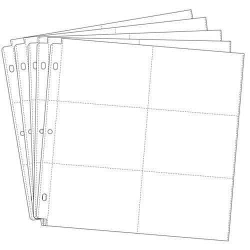 Scrapbook.com - Universal 12x12 Pocket Page Protectors - 6 Up - 4x6 Inch Pockets - 50 - Five 10 Packs