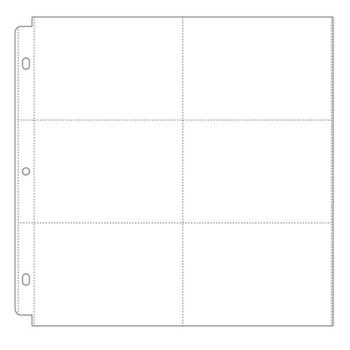 Scrapbook.com - Universal 12 x 12 Pocket Page Protectors - 6 Up - 4 x 6 Inch Pockets - 10 Pack