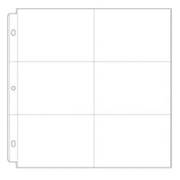 Scrapbook.com - Universal 12x12 Pocket Page Protectors - 6 Up - 4x6 Inch Pockets - 10 Pack