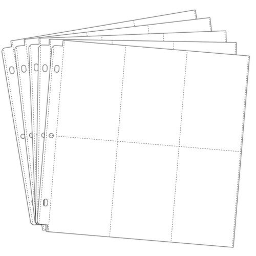 Scrapbook.com - Universal 12 x 12 Pocket Page Protectors - 6 Up - 4 x 6 Inch Vertical Pockets - 50 - Five 10 Packs