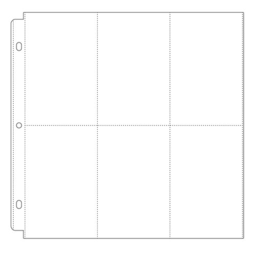 Scrapbook.com - Universal 12 x 12 Pocket Page Protectors - 6 Up - 4 x 6 Inch Vertical Pockets - 10 Pack