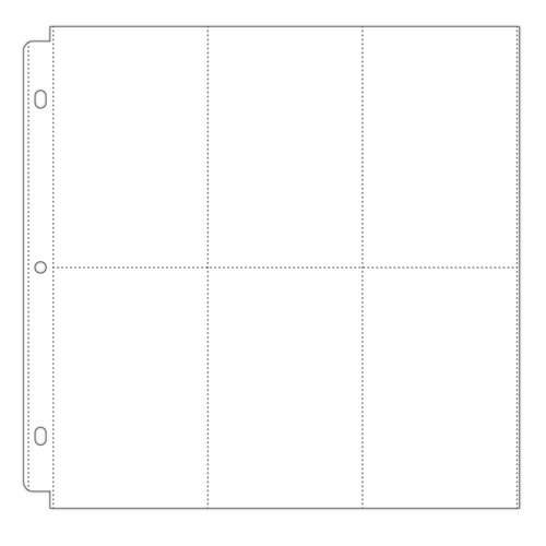 Scrapbook.com - Universal 12x12 Pocket Page Protectors - 6 Up - 4x6 Inch Vertical Pockets - 10 Pack