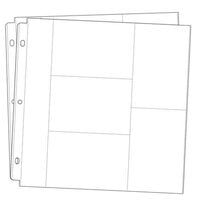 Scrapbook.com - Universal 12x12 Pocket Page Protectors - Style 1 - 20 Pack