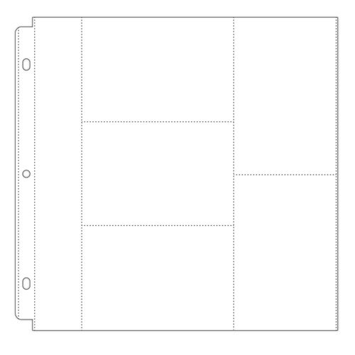 Scrapbook.com - Universal 12x12 Pocket Page Protectors - Style 1 - 10 Pack