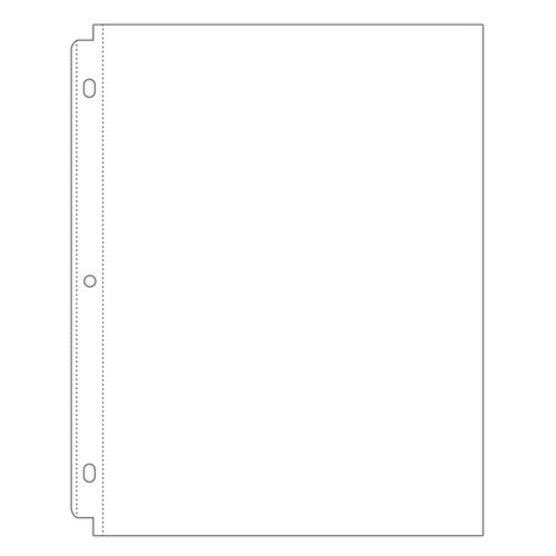 Scrapbook.com - Universal 8.5 x 11 Page Protectors for 3-ring Albums - 50 pack