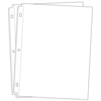 Universal 8.5 x 11 Page Protectors for 3-ring Albums - 20 - Two 10 Packs