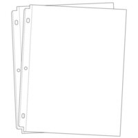 Scrapbook.com - Universal 8.5x11 Page Protectors for 3-ring Albums - 20 - Two 10 Packs