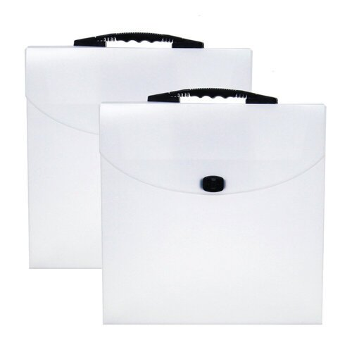 Scrapbook.com - Portable Clear Craft Storage Tote - 2 Pack
