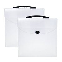 Scrapbook.com - Portable Clear Craft Storage Tote - 2 Pack