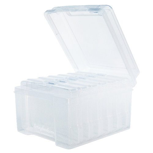 Clear Craft Storage Boxes - 4x6 - 7 Piece Set
