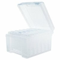 Scrapbook.com - Clear Craft Storage Boxes - 4x6 - Medium - 7 Piece Set