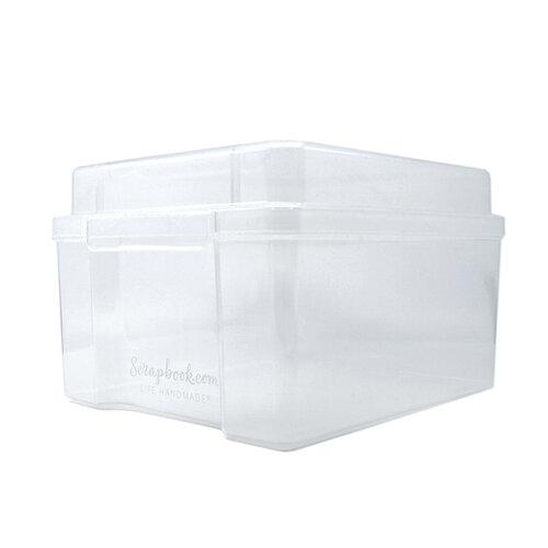 Scrapbook.com - Clear Craft Storage Box - Empty - Medium