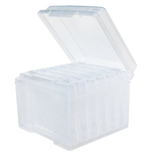 Scrapbook.com - Clear Craft Storage Boxes - 5x7 - Large - 7 Piece Set