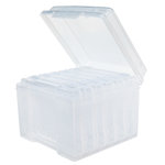 Clear Craft Storage Boxes - 5x7 - 7 Piece Set