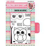 Uchis Design - Animation Die Cut and Clear Acrylic Stamps Combo - Owly Eyes