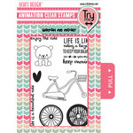 Uchis Design - Animation Die Cut and Clear Acrylic Stamps Combo - Enjoy the Ride