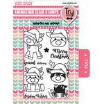 Uchis Design - Christmas - Animation Die Cut and Clear Acrylic Stamps Combo - Santa's Reindeer