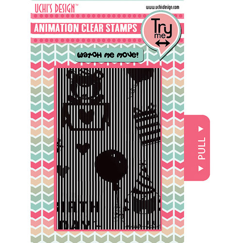 Uchis Design - Clear Acrylic Stamps - Happy Birthday