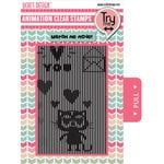 Uchis Design - Clear Acrylic Stamps - Loving Cat