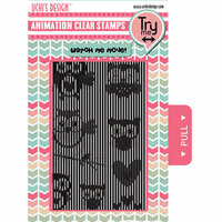 Uchis Design - Clear Acrylic Stamps - Flying Owls