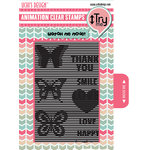 Uchis Design - Clear Acrylic Stamps - Vertical Butterflies