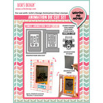 Uchis Design - Animation Die Cut and Clear Acrylic Stamps Combo - Small Animation Card