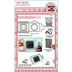 Uchis Design - Animation Die Cut and Clear Acrylic Stamps Combo - Animation Envelope