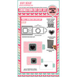 Uchis Design - Animation Die Cut and Clear Acrylic Stamps Combo - Square Frame Pull Tab Card