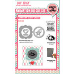 Uchis Design - Animation Die Cut and Clear Acrylic Stamps Combo - Animation-Slider-Circles