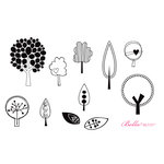 Unity Stamp - Bella Blvd Collection - Unmounted Rubber Stamp Set - Bella Trees