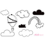 Unity Stamp - Bella Blvd Collection - Unmounted Rubber Stamp Set - Sunny Happy Skies
