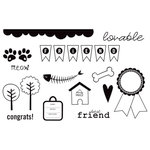 Unity Stamp - Bella Blvd Collection - Unmounted Rubber Stamp Set - Tail Waggers and Cat Naps