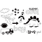 Unity Stamp - Bella Blvd Collection - Unmounted Rubber Stamp Set - Mr. Boy
