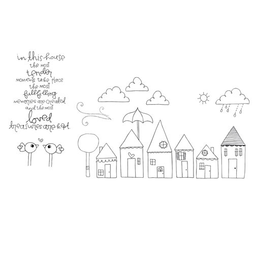 Unity Stamp - Clever Handmade Collection - Unmounted Rubber Stamp - In This House