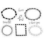 Unity Stamp - Clever Handmade Collection - Unmounted Rubber Stamp - Frames in House