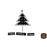 Unity Stamp - Itty Bitty Collection - Unmounted Rubber Stamp - Happy Holiday Wishes