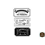 Unity Stamp - Itty Bitty Collection - Unmounted Rubber Stamp - Ticket to Christmas