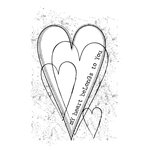 Unity Stamp - Itty Bitty Collection - Unmounted Rubber Stamp - My Heart Belongs