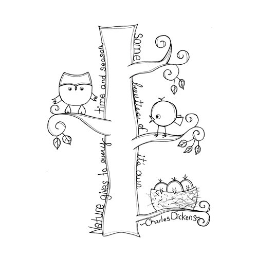 Unity Stamp - Itty Bitty Collection - Unmounted Rubber Stamp - Time and Season