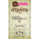 Unity Stamp - Bella Blvd Collection - Itty Bitty - Unmounted Rubber Stamp - Birthday Toad