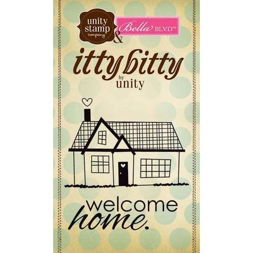 Unity Stamp - Bella Blvd Collection - Itty Bitty - Unmounted Rubber Stamp - Welcome Home