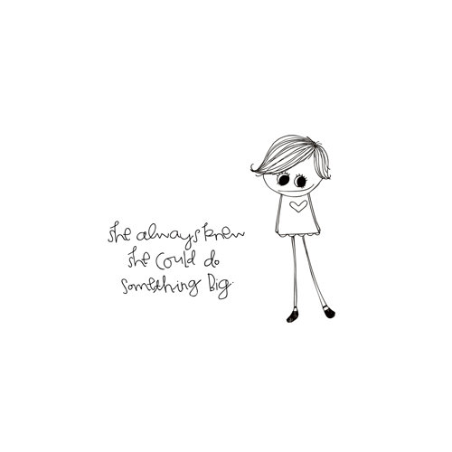Unity Stamp - Clever Handmade Collection - Itty Bitty - Unmounted Rubber Stamp - She Always Knew