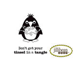 Unity Stamp - Jillibean Soup Collection - Itty Bitty - Unmounted Rubber Stamp - Tinsel in a Tangle
