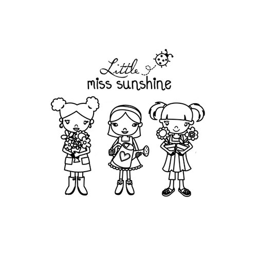 Unity Stamp - My Little Shoebox Collection - Itty Bitty - Unmounted Rubber Stamp - Little Miss Sunshine